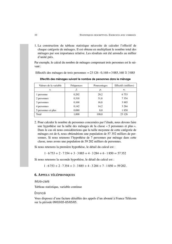 Statistiques Descriptives Statistique Descriptive