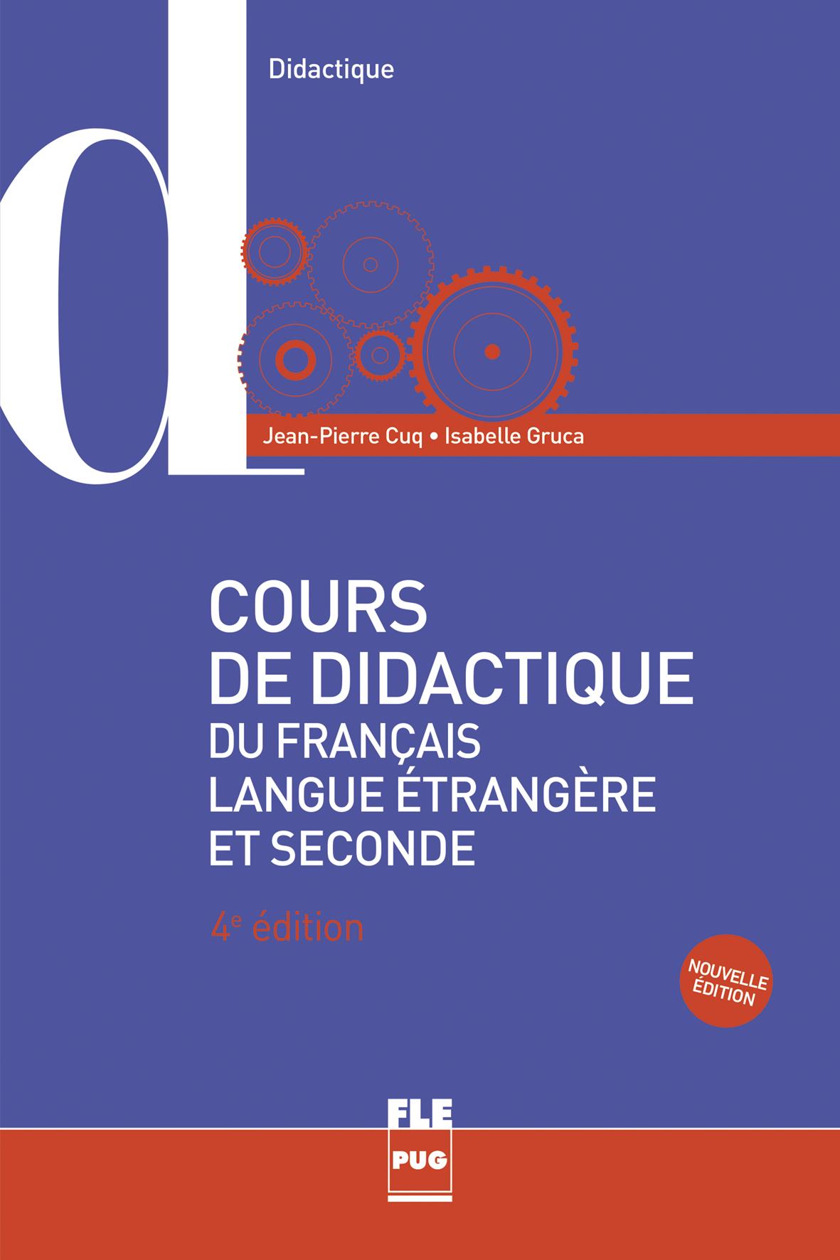 cours de didactique du fran u00e7ais langue  u00e9trang u00e8re et seconde - nouvelle  u00e9dition