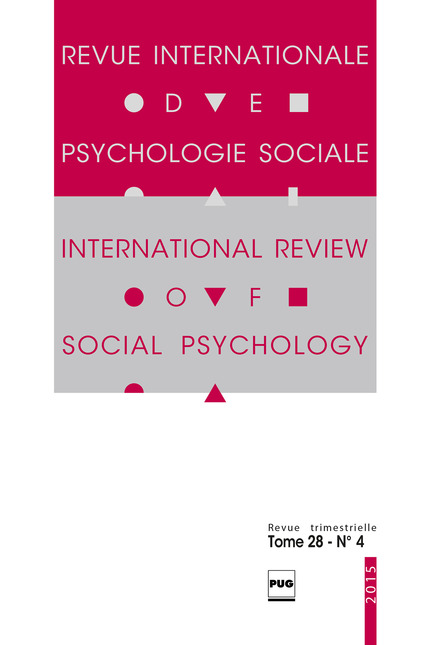 Revue internationale de psychologie sociale - 2015 - tome 28 - n°4 -  - PUG